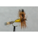 Fly - Yellow Humpy Dry #10